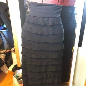 Sophie Max Ruffled Layer Maxi Skirt. SZ S